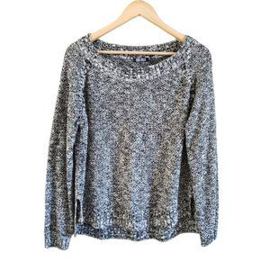 Rebel Rouge Scoop Neck Knit Sweater Grey M
